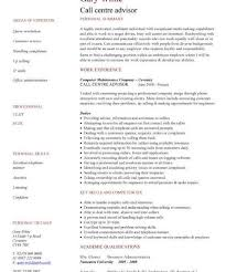Call Centre Experience Resume Curriculum Vitae Samples Pdf Format Literature Review Example In