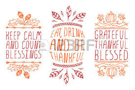 thanksgiving elements sketched typographic elements on