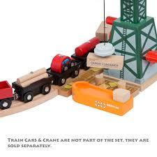 imaginarium metro line train table amazon amazon com 58 piece wooden train track expansion pack featuring