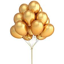 express 11 gold metallic balloons 2 dozen toys