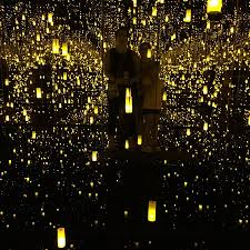 new museum light exhibit tiffany window and kusama exhibit aftermath of obliteration of
