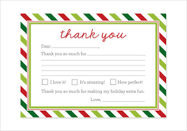 christmas thank you cards pack of 8 present christmas thank you