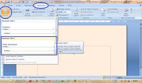 membuat daftar isi table of contents di word 2007 making table of contents automatically membuat daftar isi secara