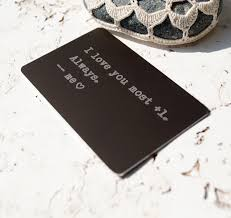 personalized wallet card metal wallet insert card engraved