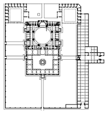 floor plan of a mosque content area