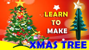 paper craft x mas tree paper folding crafts christmas tree youtube