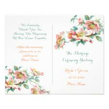 vintage wedding programs vintage wedding programs gifts on zazzle