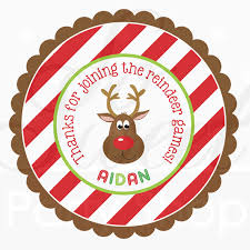 labels for party favors 24 reindeer birthday favor sticker labels personalized birthday
