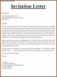 sample business invitation letter invitation letter template