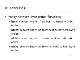 map of the htons 1 networking programming i 2 outline client server programming