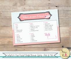 whats in your purse bridal shower game printable purse game