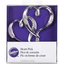 double hearts wedding cake topper wilton