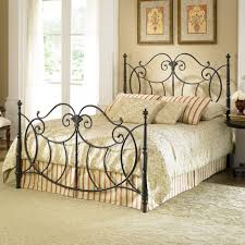 bedroom wrought iron bed frame design for retro decoration also