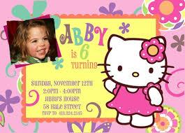 glamorous hello kitty birthday invitation card 89 with additional