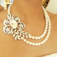 vintage wedding jewelry pearl bridal necklace vintage wedding jewelry deco wedding