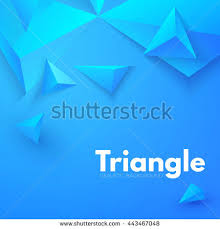 abstract triangle background 3d triangles modern stock vector