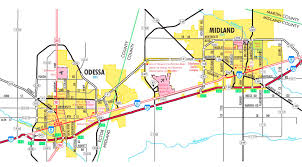 midland map midland and odessa road map