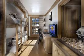 Architecture Fancy Wooden Bunk Beds For Kids Room With TV Stand - Fancy bunk beds