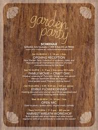 event schedule garden party october at cai u2013 collective arts