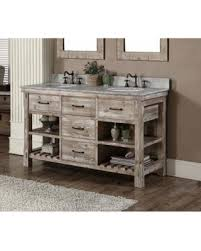 great deals on infurniture rustic style 60 inch double sink
