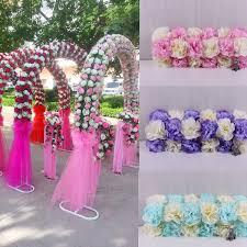 Wedding Arches Buy Aliexpress Com Buy Wedding Silk Flower Circle Arch Make Up Whole