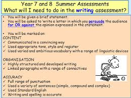 year 7 and 8 summer assessments ppt download