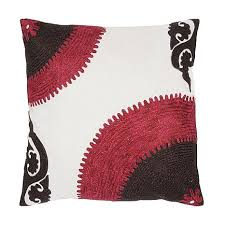 bold color 18 x 18 bold color pillow pink brown white 6762973 hsn