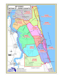 Miami Dade Zip Code Map by St Augustine Zip Code Map Zip Code Map