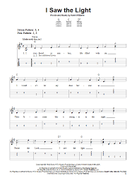 I Saw The Light Hank Williams I Saw The Light By Hank Williams Easy Guitar Tab Guitar Instructor