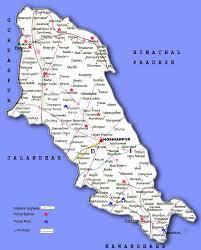 Punjab India Map by Punjab Police Map Of Hoshiarpur District