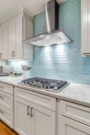 interior kitchen backsplash glass tile blue pertaining to