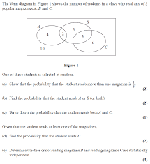 exam questions venn diagrams examsolutions