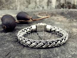 man bracelet online images Heavy silver bracelet of complex weaving for men and women jpg
