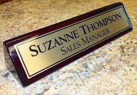 plaque de bureau personnalisé bureau personnalisé plaque didentification nom plaque