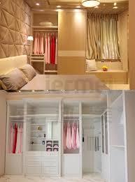 Sliding Door Bedroom Furniture Sliding Door Timber Closet Cabinet Bedroom Furniture Assembled