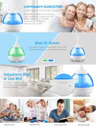 amazon com urpower humidifiers 2l cool mist humidifier whisper urpower cool mist humidifier uses ultrasonic waves to instantly vaporize water in the tank and produce cool mist great for each room in home office