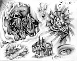 special gangsta tattoos designs