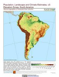 Latin And South America Map by Maps Population Landscape And Climate Estimates Place V3