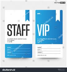 staff vip entry id card design stock vector 636399593 shutterstock