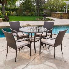 Patio Furniture Without Cushions Darden 5 Dining Set With Cushions Reviews Birch