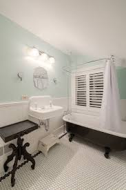 bathrooms vintage bathroom with black clawfoot bathtub and