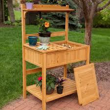 amazon com coral coast gardener u0027s choice fir wood potting bench