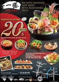 restaurant discounts ichi zen japanese restaurant 一膳 melaka menu prices