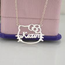 Name Necklaces Silver Sterling Silver Letters Custom Name Necklace Gefier Com