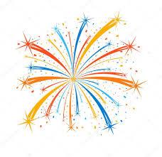 fuochi d artificio clipart fuochi d artificio colorato su fondo bianco vettoriali stock