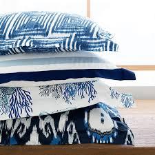 Porcelain Blue Duvet Cover Italian Two Tone Border Bedding Williams Sonoma