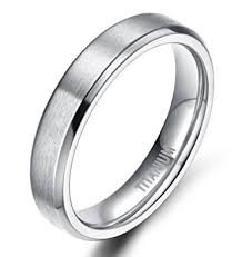 band ring 4mm 6mm 8mm unisex titanium wedding band rings in comfort fit