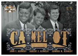 kennedy camelot topps honors kennedy brothers with camelot card beckett news
