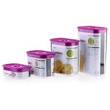 purple canister set kitchen 4pcs kitchen canister set sealed plastic food storage container