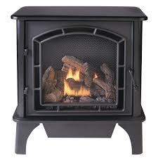Ventless Wall Mount Gas Fireplace Shop Cedar Ridge Hearth 25 75 In Dual Burner Vent Free Black